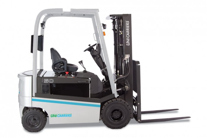 Unicarriers ac electric rider lift trucks qx stone for Motorized hand truck rental
