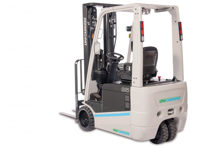 Unicarriers ac electric rider lift trucks tx stone for Motorized hand truck rental